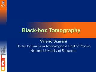 Black-box Tomography