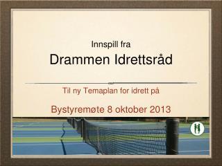 Innspill fra Drammen Idrettsråd
