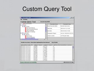 Custom Query Tool