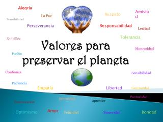 Valores para preservar el planeta