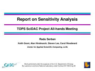 Report on Sensitivity Analysis