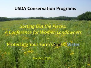 USDA Conservation Programs
