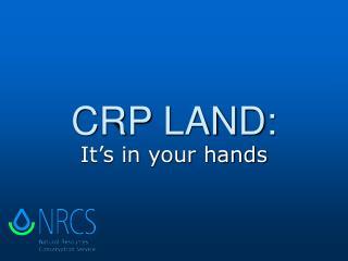 CRP LAND: