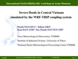 International MAHASRI/HyARC workshop on Asian Monsoon