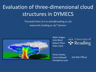 Evaluation of three-dimensional cloud structures in DYMECS