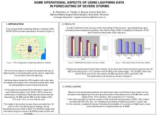 SOME OPERATIONAL ASPECTS OF USING LIGHTNING DATA  IN FORECASTING OF SEVERE STORMS