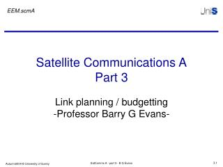 Satellite Communications A Part 3