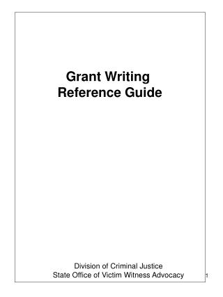 Grant Writing  Reference Guide