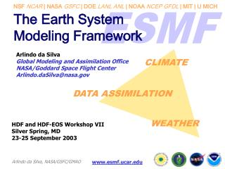 The Earth System  Modeling Framework
