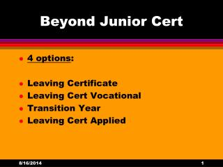 Beyond Junior Cert