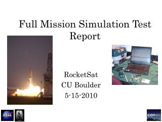 Full Mission Simulation Test Report