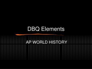 DBQ Elements