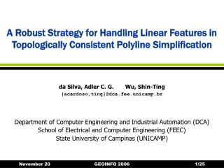A Robust Strategy for Handling Linear Features in Topologically Consistent Polyline Simplification