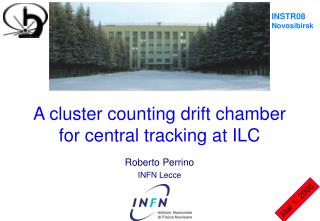 A cluster counting drift chamber for central tracking at ILC