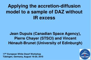 Applying the accretion-diffusion model to a sample of DAZ without IR excess