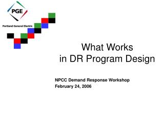 What Works in DR Program Design