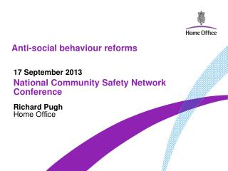 Anti-social behaviour reforms