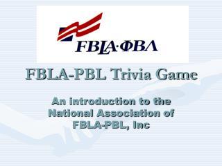 FBLA-PBL Trivia Game