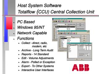 Host System Software Totalflow  ( CCU) Central Collection Unit
