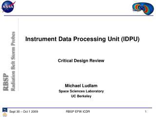 Instrument Data Processing Unit (IDPU)