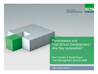 Performance and  Test-Driven Development: Are they compatible?