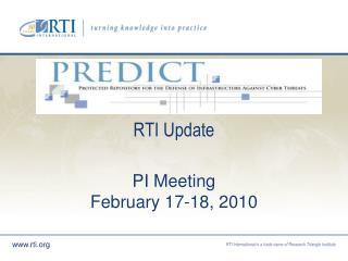 RTI Update