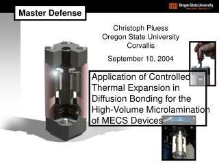 Application of Controlled Thermal Expansion in Diffusion Bonding for the
