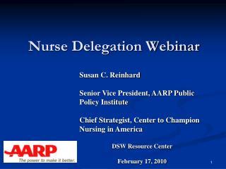 Nurse Delegation Webinar
