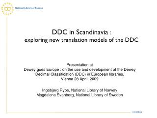 DDC in Scandinavia  :  exploring new translation models of the DDC