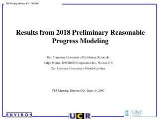 Results from 2018 Preliminary Reasonable Progress Modeling