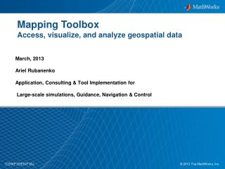 Mapping Toolbox Access, visualize, and analyze geospatial data