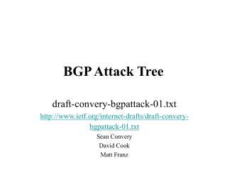 BGP Attack Tree