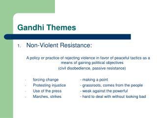 Gandhi Themes