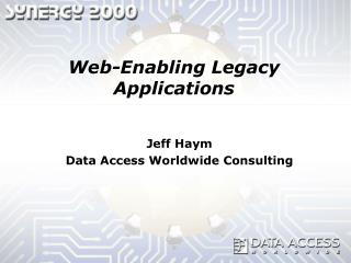 Web-Enabling Legacy Applications
