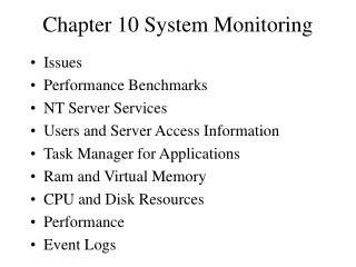 Chapter 10 System Monitoring