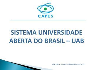 SISTEMA UNIVERSIDADE ABERTA DO BRASIL – UAB