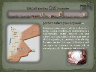 Jordan takes you beyond  …