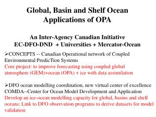 CONCEPTS -- Canadian Operational network of Coupled Environmental PredicTion Systems