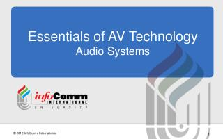 Essentials of AV Technology Audio Systems