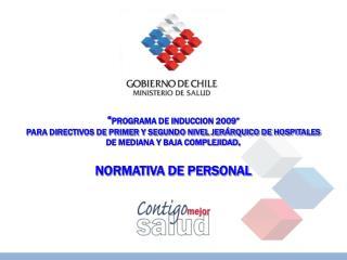 """"""" PROGRAMA DE INDUCCION 2009"""""""