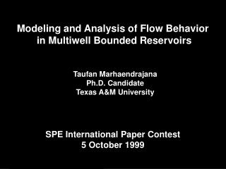 Modeling and Analysis of Flow Behavior  in Multiwell Bounded Reservoirs
