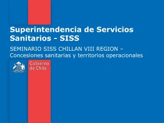 Superintendencia de Servicios Sanitarios - SISS