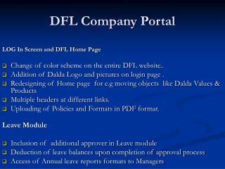 DFL Company Portal
