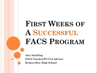 Welcome FCCLA New Advisers