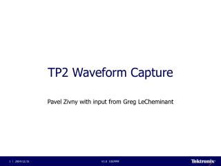 TP2 Waveform Capture