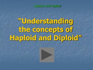�Understanding the concepts of Haploid and Diploid�