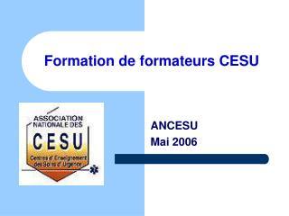 Formation de formateurs CESU