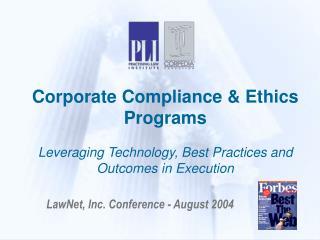LawNet, Inc. Conference - August 2004
