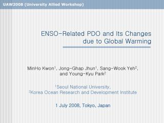 ENSO-Related PDO and Its Changes due to Global Warming