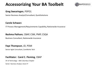 Accessorizing Your BA Toolbelt